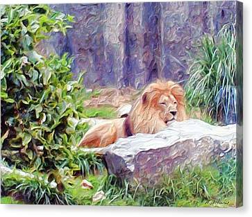 The King At Rest Canvas Print by Methune Hively