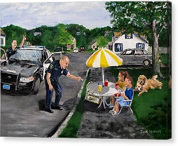 The Lemonade Stand Canvas Print by Jack Skinner