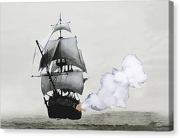 The Old Pirate Canvas Print by Tyler Martin