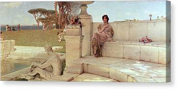 The Voice Of Spring Canvas Print by Sir Lawrence Alma-Tadema