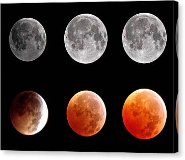 Total Eclipse Of Heart Sequence Canvas Print by Joannis S Duran / Freelance Photographer