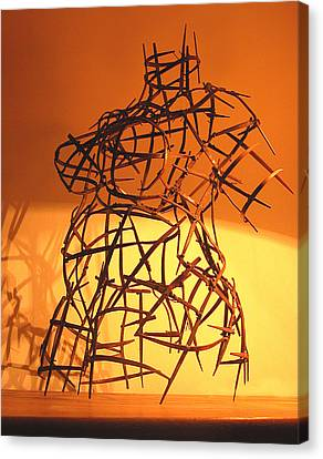 Welded Torso Canvas Print by Tommy  Urbans