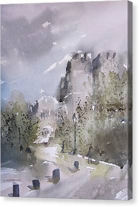 West Point Thayer Road Canvas Print by Sandra Strohschein