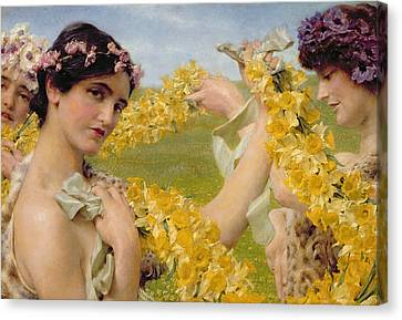 When Flowers Return Canvas Print by Sir Lawrence Alma-Tadema