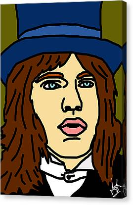 Young Mick Jagger Canvas Print by Jera Sky