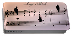 Songbirds With Border Portable Battery Charger by Bill Cannon