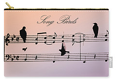 Songbirds With Border Carry-all Pouch by Bill Cannon