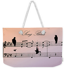 Songbirds With Border Weekender Tote Bag by Bill Cannon