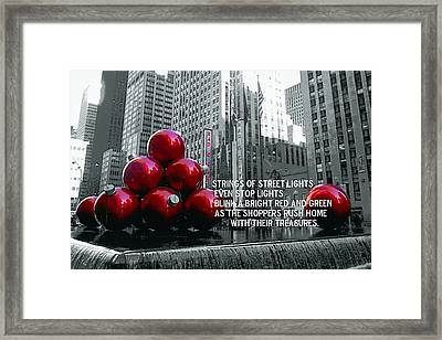 Busy Sidewalks Framed Print by JAMART Photography
