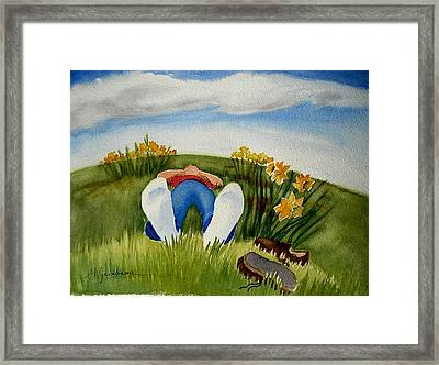 Daydreaming Framed Print by Marilyn Jacobson