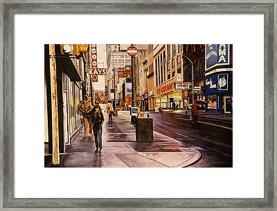 Fifth Avenue In The 80s Framed Print by James Guentner