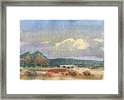 Gallup Suburb Framed Print by Donald Maier