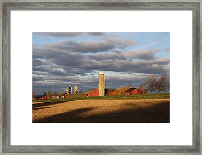 Shades Of Evening Framed Print by Doug Hoover