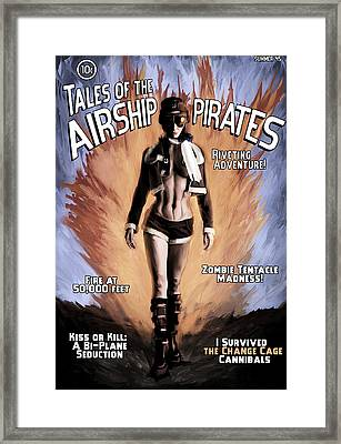 Tales Of The Airship Pirates Framed Print by Mandem