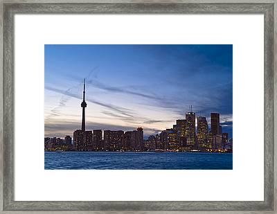 View From Islands Of Skyline Toronto Framed Print by Richard Nowitz