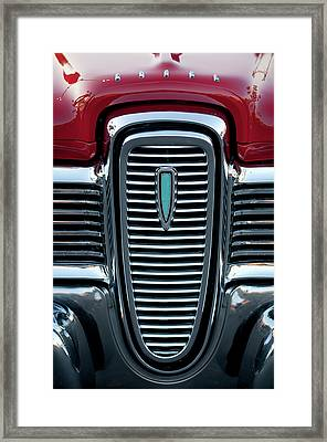 1959 Edsel Corsair Convertible Grille Framed Print by Jill Reger