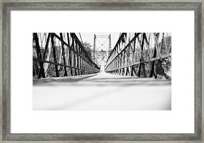 2 Cent Bridge Framed Print by Chad Tracy