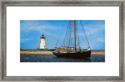 Edgartown Light Framed Print by Michael Petrizzo