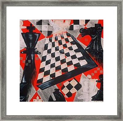A Chess Piece Framed Print by Shellton Tremble