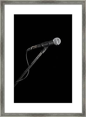 A Microphone Framed Print by Antenna