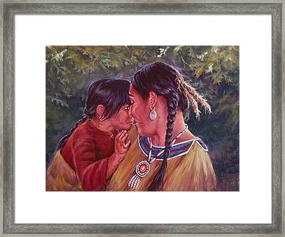A Mother's Love Framed Print by Ed Breeding