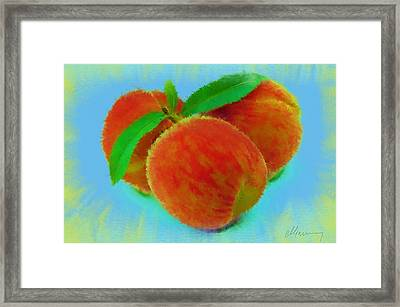 Abstract Fruit Painting Framed Print by Michael Greenaway