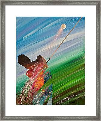 Abstract Golf Framed Print by Douglas Fincham