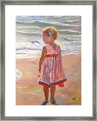 Alexis At The Gulf Framed Print by Tina Swindell