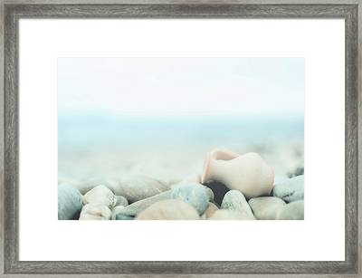 Amphora Lies On Pebbles Framed Print by Alexandre Fundone
