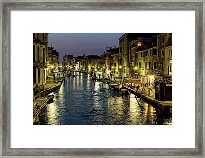 An Evening In Venice Framed Print by Michelle Sheppard