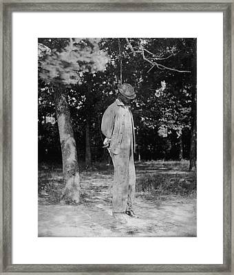 Anonymous African American Lynching Framed Print by Everett