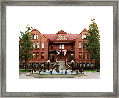 Arizona State July 4th At Old Main Framed Print by Arizona State Athletics