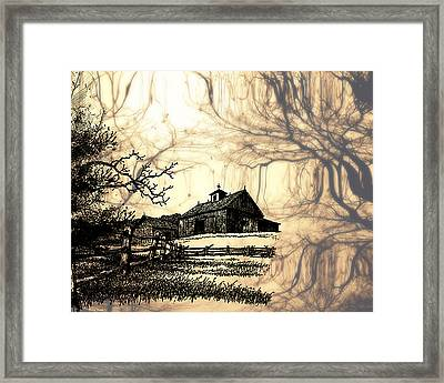 Barn Out Back 2 Framed Print by Cheryl Young