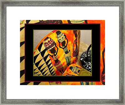 Beautiful Black Women And Water Jars Tea Cozy Framed Print by Gretchen Wrede