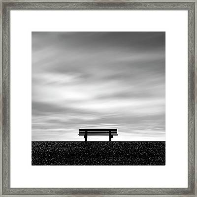 Bench, Long Exposure Framed Print by Kees Smans