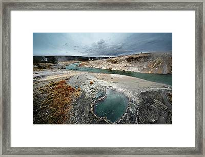 Blue Hole Framed Print by KH Graphic