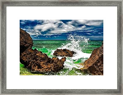 Blue Meets Green Framed Print by Christopher Holmes