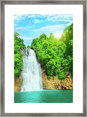 Bobla Waterfall Framed Print by MotHaiBaPhoto Prints