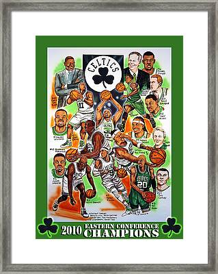 Boston Celtics Eastern Conference Champions Framed Print by Dave Olsen