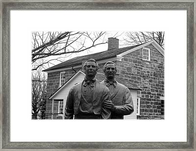 Brothers To The End Framed Print by Trenton Hill