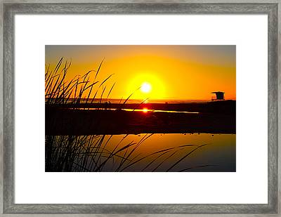 Carpinteria State Beach Framed Print by Bransen Devey