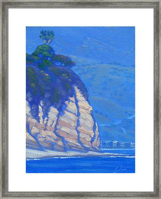 Cliffs At Point Dume Framed Print by Elena Roche