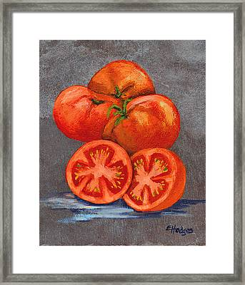 Creole Tomatoes Framed Print by Elaine Hodges