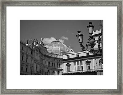 Dome Of Galleria Umberto 1 Framed Print by Terence Davis