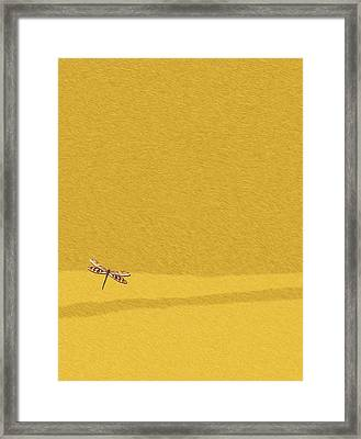 Dragonfly On Yellow Fur 2 Framed Print by Pascal VERSAVEL