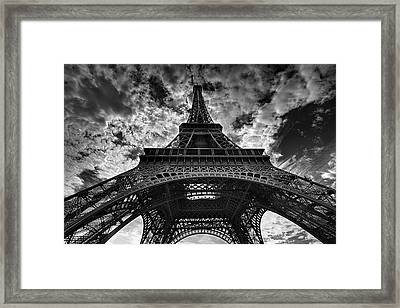 Eiffel Tower Framed Print by Allen Parseghian