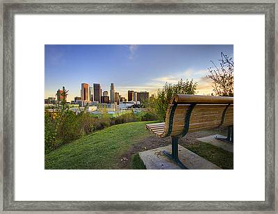Empty Bench Framed Print by Kenny Hung Photography