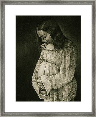Expecting Framed Print by Curtis James