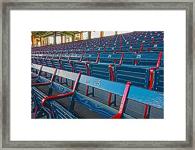 Fenway Bleachers Framed Print by Michael Yeager