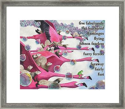 Flamingos Framed Print by Catherine G McElroy